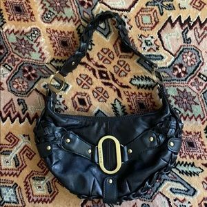 BCBGirls Black Leather Shoulder Bag